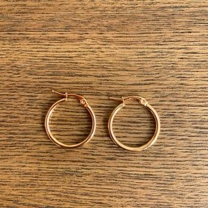 Jewelry - Mini Thin Hoop Earrings 18K Gold Plated Unisex